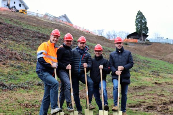 Spatenstich in Kaltbrunn & Start Bauarbeiten